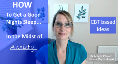 How to Get a Good Nights Sleep – In the Midst of Anxiety!